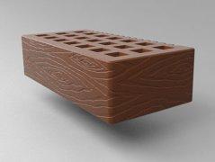 Кирпич керамический Саранский облицовочный одинарный какао дерево