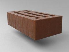 Кирпич керамический Саранский облицовочный одинарный какао дерюга