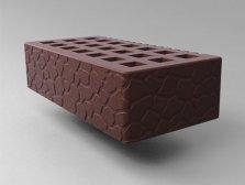 Кирпич керамический Саранский облицовочный одинарный коричневый черепаха