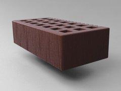 Кирпич керамический Саранский облицовочный одинарный коричневый дерюга