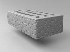 Кирпич керамический Саранский облицовочный одинарный серый черепаха