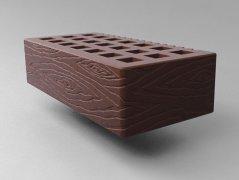 Кирпич керамический Саранский облицовочный одинарный шоколад дерево