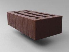 Кирпич керамический Саранский облицовочный одинарный шоколад дерюга