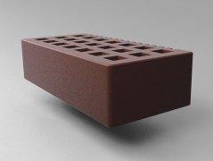 Кирпич керамический Саранский облицовочный одинарный шоколад гладкий