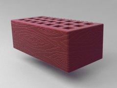 Кирпич керамический Саранский облицовочный полуторный бордо дерево