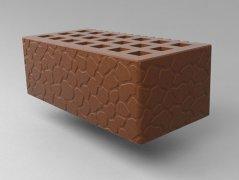 Кирпич керамический Саранский облицовочный полуторный какао черепаха