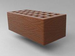 Кирпич керамический Саранский облицовочный полуторный какао дерево