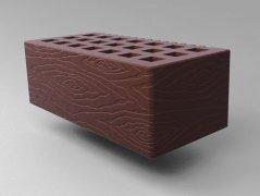 Кирпич керамический Саранский облицовочный полуторный коричневый дерево