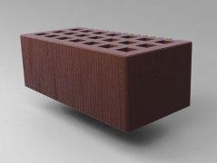 Кирпич керамический Саранский облицовочный полуторный коричневый дерюга