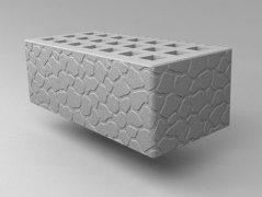 Кирпич керамический Саранский облицовочный полуторный серый черепаха