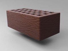 Кирпич керамический Саранский облицовочный полуторный шоколад дерево