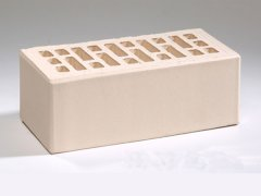 Кирпич керамический Воротынский облицовочный полуторный белый жемчуг с утолщенной стенкой