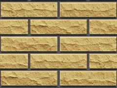 Кирпич силикатный Глубокинский облицовочный одинарный желтый рустированный