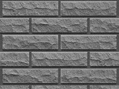 Кирпич силикатный Глубокинский облицовочный одинарный черный рустированный