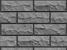 Кирпич силикатный Глубокинский облицовочный полуторный черный рустированный