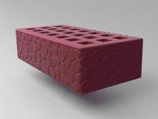 Кирпич керамический Саранский облицовочный одинарный бордо черепаха