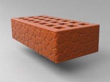 Кирпич керамический Саранский облицовочный одинарный красный черепаха