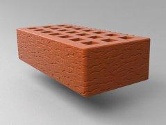 Кирпич керамический Саранский облицовочный одинарный красный кора дуба