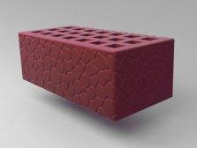 Кирпич керамический Саранский облицовочный полуторный бордо черепаха