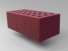 Кирпич керамический Саранский облицовочный полуторный бордо дерюга