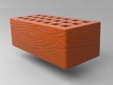 Кирпич керамический Саранский облицовочный полуторный красный дерево