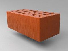 Кирпич керамический Саранский облицовочный полуторный красный дерюга