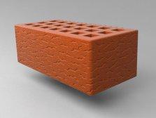 Кирпич керамический Саранский облицовочный полуторный красный кора дуба